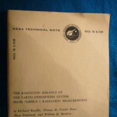 Libros de segunda mano de Ciencias: VARIOS: - THE RADIATION BALANCE OF THE EARTH-ATMOSPHERE SYSTEM FROM NIMBUS 3 - (WASHINGTON, 1973). Lote 36096283