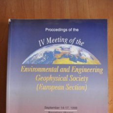 Libros de segunda mano: PROCCEDINGS OF THE IV MEETING OF THE ENVIRONMENTAL AND ENGINNERING GEOPHYSICAL SOCIETY BARCELONA . Lote 36186722