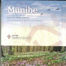 Libros de segunda mano: REVISTA MUNIBE. SOCIEDAD CIENCIAS NATURALES ARANZADI. 57. Lote 36349480