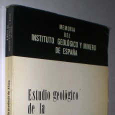 Libros de segunda mano: MEMORIA DEL INSTITUTO GEOLÓGICO Y MINERO DE ESPAÑA: ESTUDIO GEOLÓGICO DE LA PROVINCIA DE ÁLAVA.. Lote 36404099