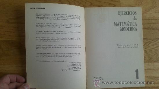 Libros de segunda mano de Ciencias: EJERCICIOS DE MATEMÁTICA MODERNA - 1 - Foto 5 - 37043369