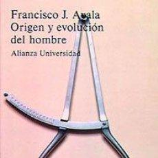 Libros de segunda mano: ORIGEN Y EVOLUCION DEL HOMBRE. Lote 38427093
