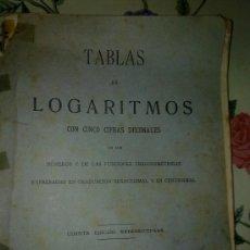 Libros de segunda mano de Ciencias: TABLAS DE LOGARITMOS CONCINCO CIFRAS DECIMALES. EST4B1. Lote 38618742