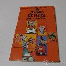 Libros de segunda mano de Ciencias: JUEGOS DE FÍSICA- JANICE P. VANCLEAVE- LABOR BOLSILLO JUVENIL. Lote 194246175