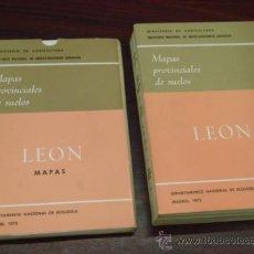 Libros de segunda mano: MAPAS PROVINCIALES DE SUELOS: PROVINCIA DE LEÓN. 2 TOMOS. 1973 . Lote 38695577