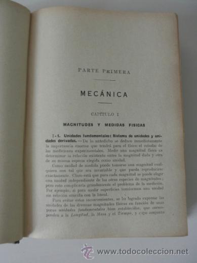 Libros de segunda mano de Ciencias: FISICA GENERAL APLICADA POR FRANCISCO F. SINTES. EDITORIAL RAMÓN SOPENA * BARCELONA 1939 - Foto 4 - 38891816