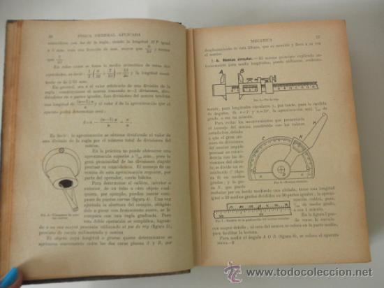 Libros de segunda mano de Ciencias: FISICA GENERAL APLICADA POR FRANCISCO F. SINTES. EDITORIAL RAMÓN SOPENA * BARCELONA 1939 - Foto 5 - 38891816