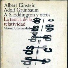 Libros de segunda mano de Ciencias: EINSTEIN Y OTROS : LA TEORÍA DE LA RELATIVIDAD (ALIANZA, 1973). Lote 38915085