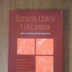 Libros de segunda mano: ELEFANTES, CIERVOS Y OVICAPRINOS. ALFONSO MOURE ROMANILLO (EDITOR). UNIVERSIDAD DE CANTABRIA, 1992. Lote 39012427