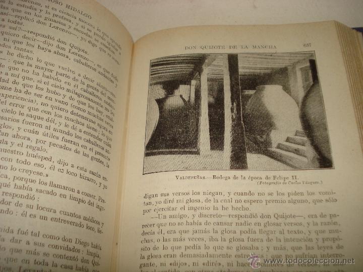Libros de segunda mano de Ciencias: EL INGENIOSO HIDALGO DON QUIJOTE DE LA MANCHA Biblioteca Hispania Edit. Ramón Sopena 1954 - Foto 2 - 39625416