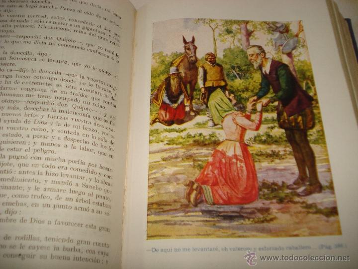 Libros de segunda mano de Ciencias: EL INGENIOSO HIDALGO DON QUIJOTE DE LA MANCHA Biblioteca Hispania Edit. Ramón Sopena 1954 - Foto 6 - 39625416