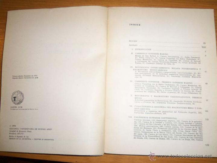 Libros de segunda mano: CARBONICO Y PERMICO DE LA ARGENTINA, por Jorge Polanski - EUDEBA - Argentina - 1978 - RARO! - Foto 2 - 46885000