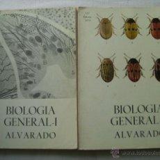 Libros de segunda mano: BIOLOGÍA GENERAL (2 VOLÚMENES) ALVARADO, S. 1974. Lote 41412844