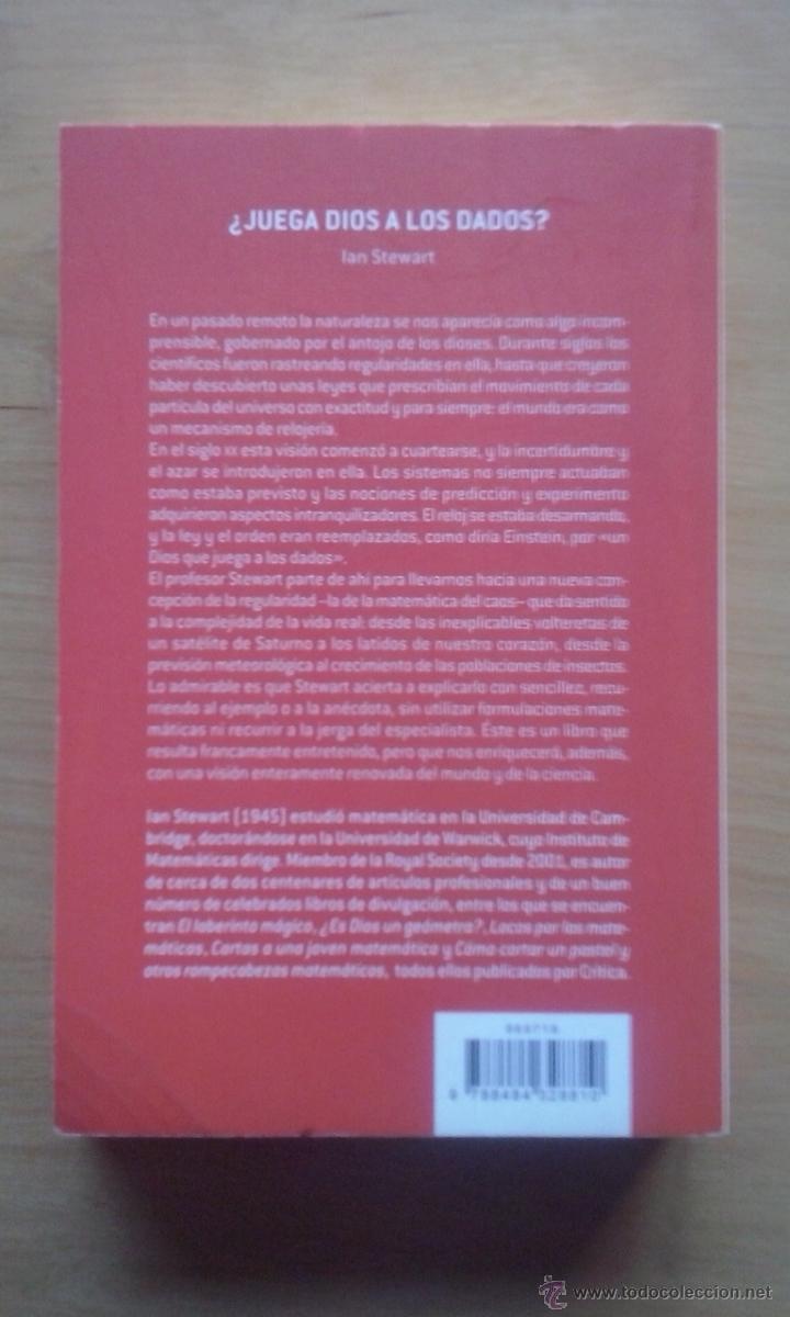 Libros de segunda mano de Ciencias: Ian Stewart, '¿Juega Dios a los dados?' - Foto 2 - 41747311
