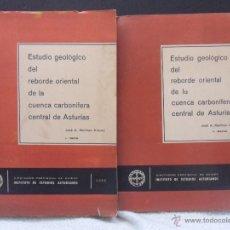 Libros de segunda mano: ESTUDIO GEOLOGICO DEL REBORDE ORIENTAL DE LA CUENCA CARBONIFERA CENTRAL DE ASTURIAS. 2 TOMOS: I.-TEX. Lote 42217747