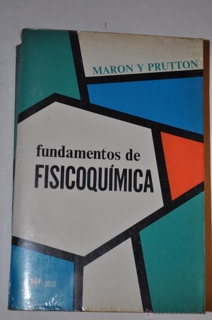 libro de fisicoquimica de maron y prutton