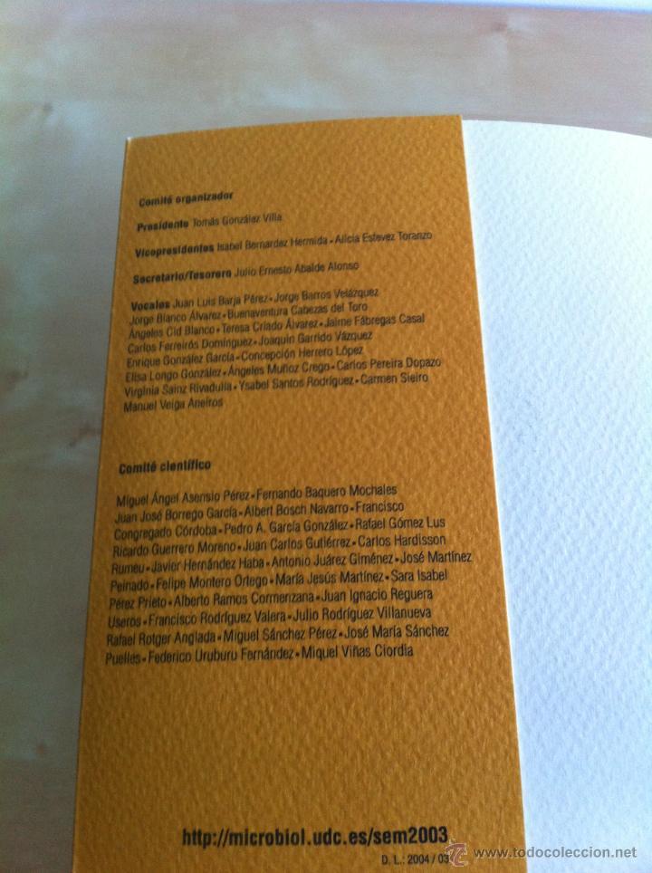 Libros de segunda mano: SEM 2003. XIX CONGRESO NACIONAL DE MICROBIOLOGÍA. ------------------------3ª COMPRA ENVÍO GRATIS---- - Foto 9 - 42542860
