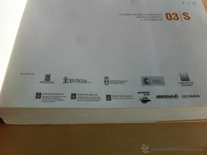 Libros de segunda mano: SEM 2003. XIX CONGRESO NACIONAL DE MICROBIOLOGÍA. ------------------------3ª COMPRA ENVÍO GRATIS---- - Foto 10 - 42542860
