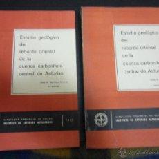Libros de segunda mano: ESTUDIO GEOLOGICO DEL REBORDE ORIENTAL DE LA CUENCA CARBONIFERA CENTRAL DE ASTURIAS. 2 TOMOS: I.-TEX. Lote 42547144