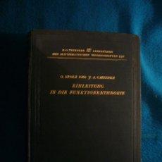 Libros de segunda mano de Ciencias: STOLZ - GMEINER: - EINLEITUNG IN DIE FUNKTIONENTHEORIE - (LEIPZIG, 1905). Lote 42616715