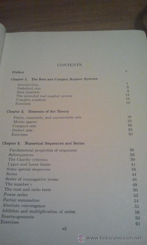 Principles of mathematical analysis  walter rud - Sold