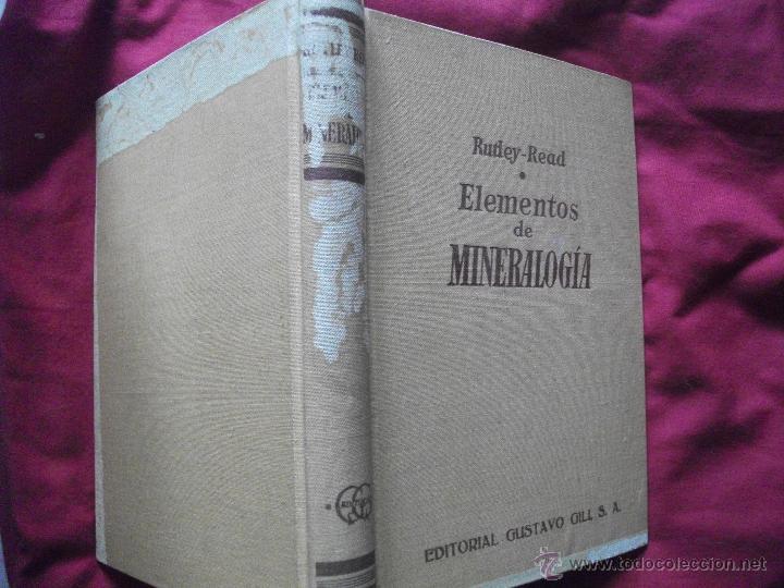 Libros de segunda mano: LIBRO ELEMENTOS DE MINERALOGIA 1959 RUTLEY - READ - Foto 4 - 42892147