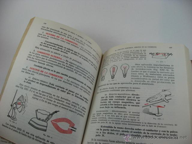 Libros de segunda mano de Ciencias: NOCIONES DE FISICA Y QUIMICA, BACHILLERATO PLAN DE 1957, CABEZAS SERRA. - Foto 2 - 42933018