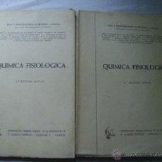 Libros de segunda mano de Ciencias: QUÍMICA FISIOLÓGICA (2 VOLÚMENES) GARCÍA-BLANCO OYARZÁBAL, J.1960. Lote 43380869