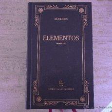 Libros de segunda mano de Ciencias: EUCLIDES. ELEMENTOS.. Lote 43496478