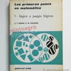 Libros de segunda mano de Ciencias: LOS PRIMEROS PASOS EN MATEMÁTICAS 1 - LÓGICA Y JUEGOS LÓGICOS - EDUCACIÓN CIENCIAS JUEGO LIBRO TEIDE. Lote 43638368