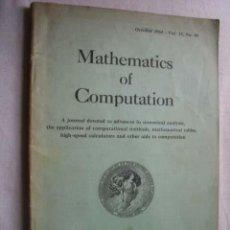 Libros de segunda mano de Ciencias: MATHEMATICS OF COMPUTATION. OCTOBER 1964. VOL 18, Nº 88. Lote 43770494