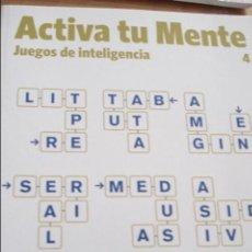 Libros de segunda mano de Ciencias: ACTIVA TU MENTE Nº 4 JUEGOS DE INTELIGENCIA. Lote 43933242