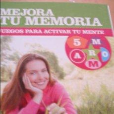 Libros de segunda mano de Ciencias: MEJORA TU MEMORIA JUEGOS PARA ACTIVAR TU MENTE. Lote 43933293