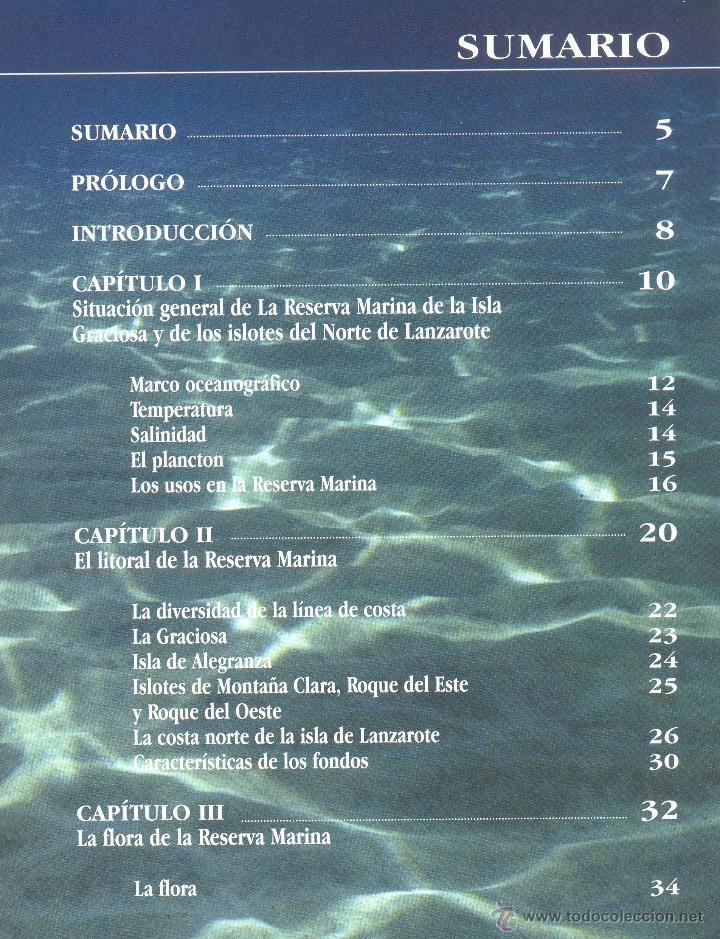 Libros de segunda mano: 2.PAISAJES SUBMARINOS DE LA ISLA GRACIOSA Y DE LOS ISLOTES DE LANZAROTE. (Canarias). - Foto 3 - 44099614
