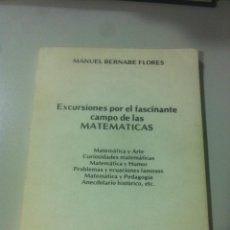 Libros de segunda mano de Ciencias: EXCURSIONES POR EL FASCINANTE CAMPO DE LAS MATEMATICAS - MANUEL BERNABE FLORES - MOVINTER - MADRID -. Lote 44319080