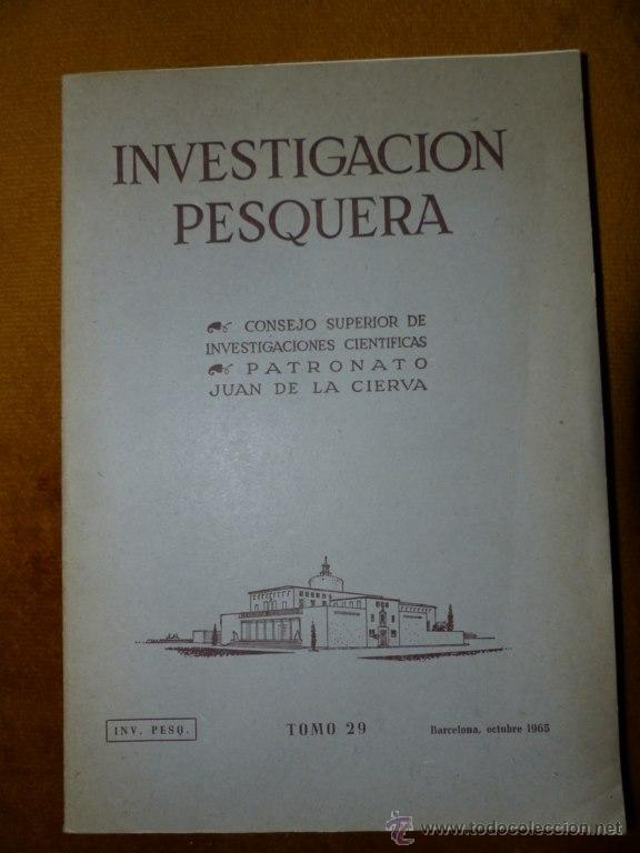 INVESTIGACION PESQUERA : ESTUDIOS SOBRE LAS ALGAS BENTÓNICAS EN LA COSTA SUR DE LA PENINSULA (Libros de Segunda Mano - Ciencias, Manuales y Oficios - Biología y Botánica)