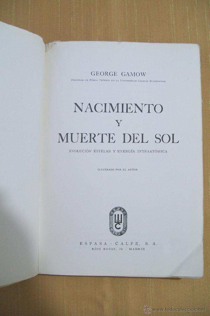 nacimiento y muerte del sol george gamow espasa - Comprar Libros de ...