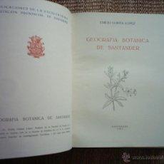 Libros de segunda mano: EMILIO GUINEA LÓPEZ. GEOGRAFÍA BOTÁNICA DE SANTANDER. 1953. DIBUJOS Y FOTOGRAFÍAS DEL AUTOR.. Lote 45392902