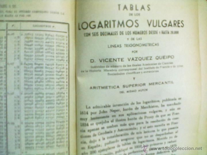 Libros de segunda mano de Ciencias: TABLAS DE LOS LOGARITMOS VULGARES 1962 - Foto 5 - 45402289
