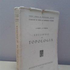 Libros de segunda mano de Ciencias: LECCIONES DE TOPOLOGÍA. H. SEIFERT Y W. THRELFALL. AÑO 1951. Lote 45404857