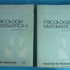 Libros de segunda mano de Ciencias: PSICOLOGÍA MATEMÁTICA II - TOMOS I Y II. VARIOS AUTORES. UNED. Lote 45644245