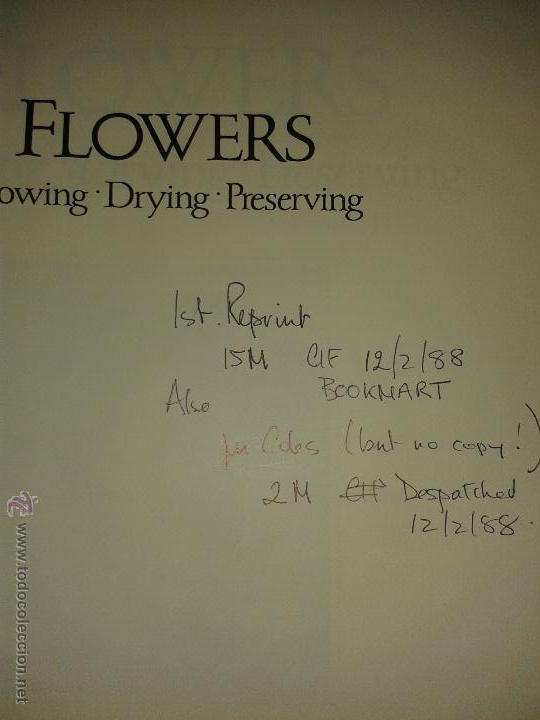 Libros de segunda mano: Flowers. Growing. Drying. Preserving. Cormack & Carter 1988. Copia de colección particular editorial - Foto 4 - 45743811