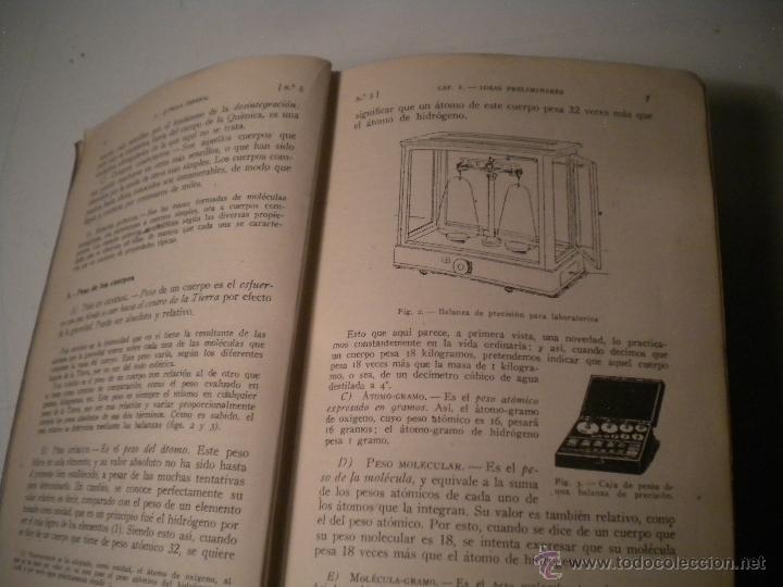 Libros de segunda mano de Ciencias: Curso general de quimica.Ignacio Puig .1942 Manuel Marin EDITOR - Foto 4 - 45747351