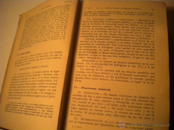Libros de segunda mano de Ciencias: Curso general de quimica.Ignacio Puig .1942 Manuel Marin EDITOR - Foto 5 - 45747351
