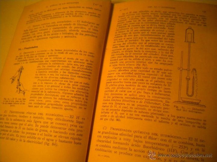 Libros de segunda mano de Ciencias: Curso general de quimica.Ignacio Puig .1942 Manuel Marin EDITOR - Foto 6 - 45747351