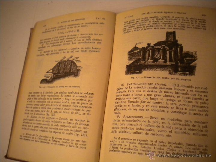 Libros de segunda mano de Ciencias: Curso general de quimica.Ignacio Puig .1942 Manuel Marin EDITOR - Foto 7 - 45747351