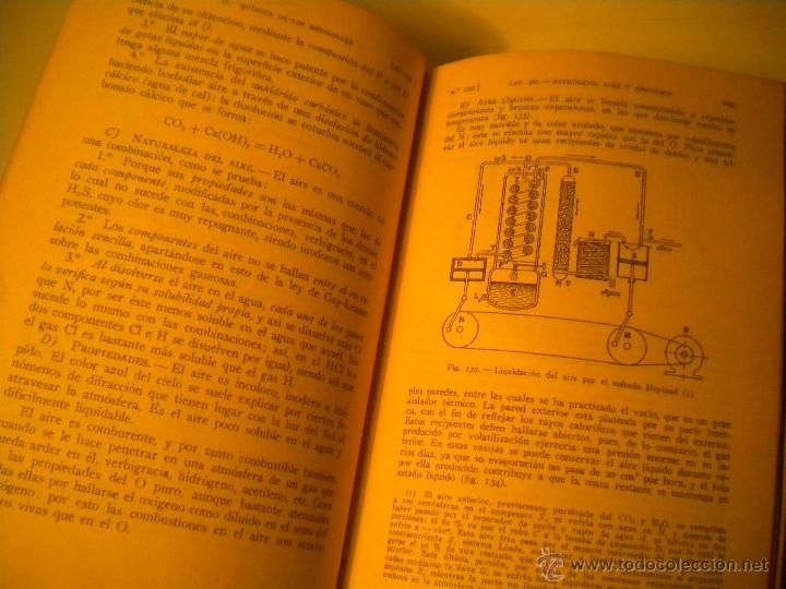 Libros de segunda mano de Ciencias: Curso general de quimica.Ignacio Puig .1942 Manuel Marin EDITOR - Foto 8 - 45747351