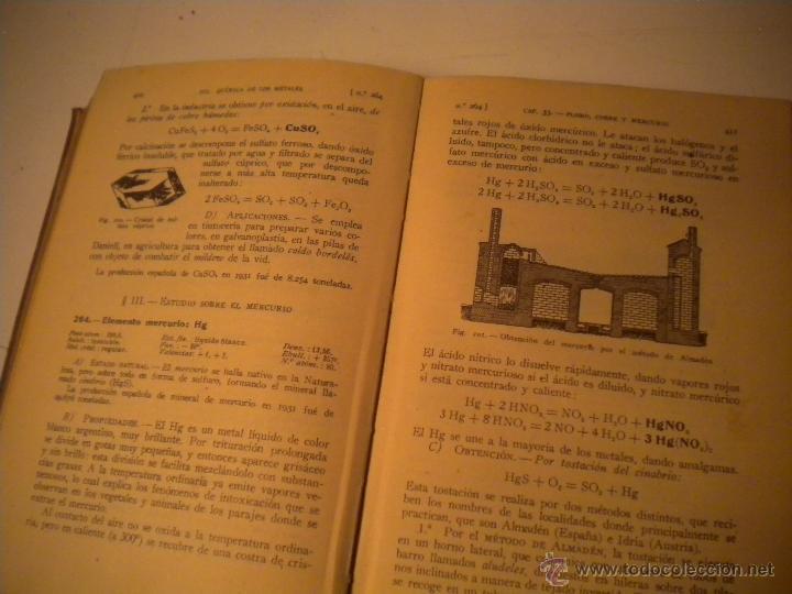Libros de segunda mano de Ciencias: Curso general de quimica.Ignacio Puig .1942 Manuel Marin EDITOR - Foto 9 - 45747351