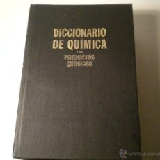 Libros de segunda mano de Ciencias: DICCIONARIO DE QUIMICA Y DE PRODUCTOS QUIMICOS - ESPAÑOL- INGLES / INGLES- ESPAÑOL. Lote 45747478