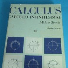 Libros de segunda mano de Ciencias: CALCULUS, CÁLCULO INFINITESIMAL. TOMO II. MICHAEL SPIVAK. Lote 120523896